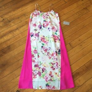 NEW Charlie Jade pink and teal floral maxi dress